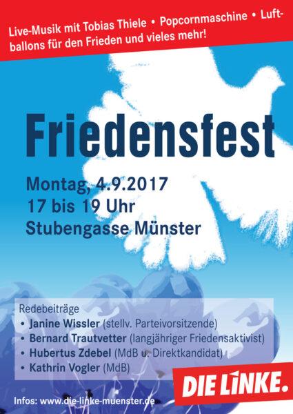 Friedensfest der LINKEN @ Stubengassenplatz | Münster | Nordrhein-Westfalen | Deutschland