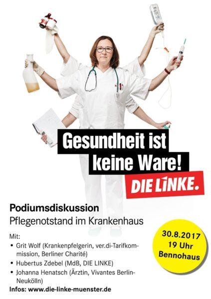 Roter Donnerstag: Pflegenotstand stoppen! @ Bürgerhaus Bennohaus   Münster   Nordrhein-Westfalen   Deutschland