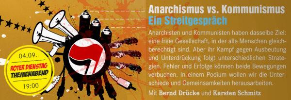 Anarchismus vs. Kommunismus - Ein Streitgespräch @ Linkes Zentrum | Münster | Nordrhein-Westfalen | Deutschland